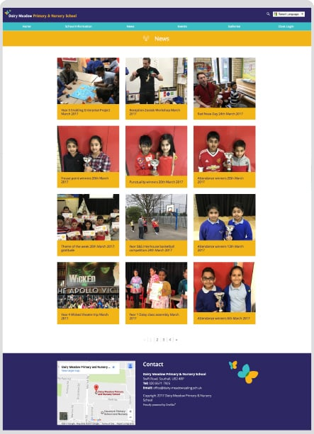 Dairy Meadow Primary School pupil photography website development