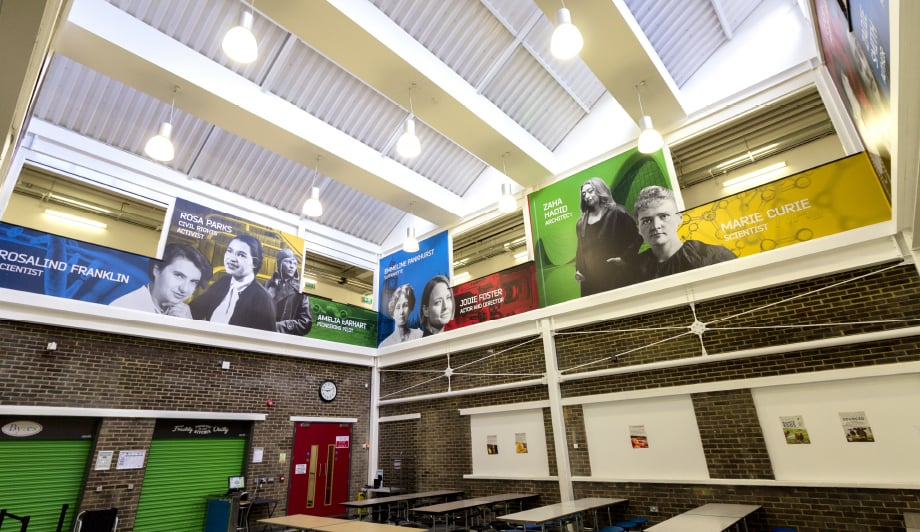 Townley Grammar School inspirational atrium classroom wall art