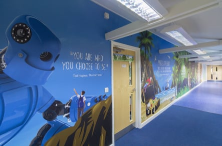 Ryedene Community Primary School vibrant literacy themed Wall Art
