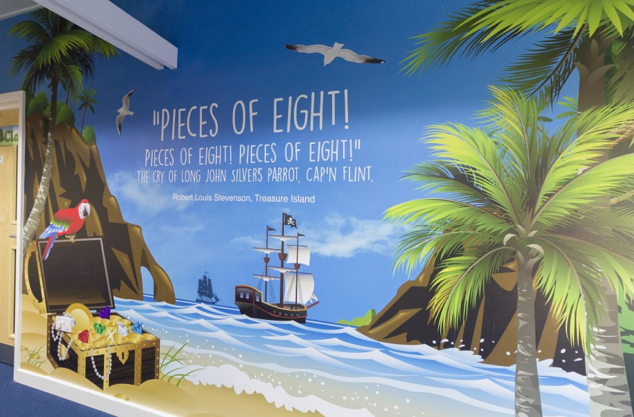 Ryedene Primary School English Literature Themed large format Wall Art