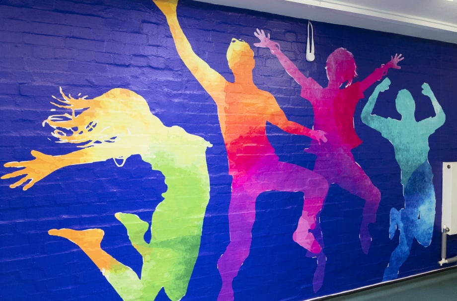 Broadmead Primary School bespoke story themed corridor wall art