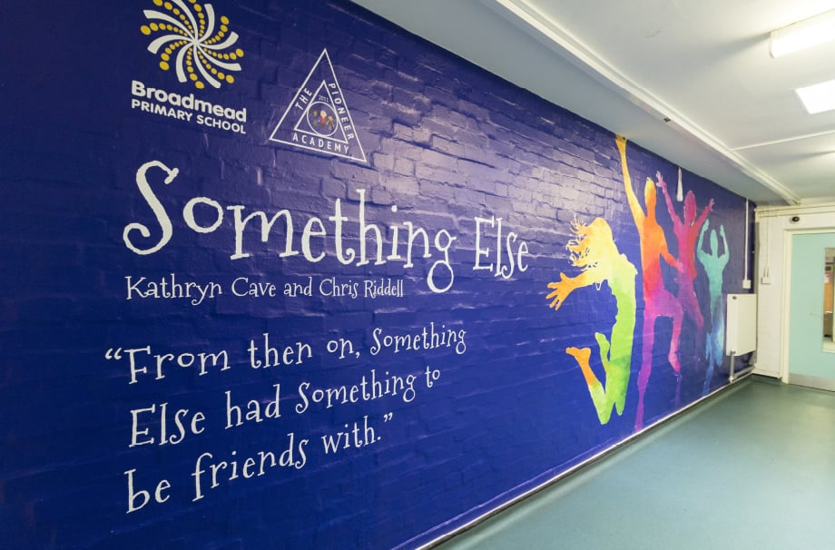 Broadmead Primary School English literature story themed Corridor Wall Art