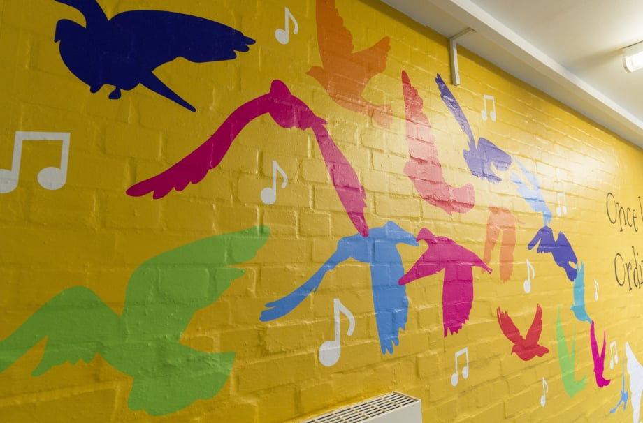 Primary Schools bespoke story themed corridor wall art