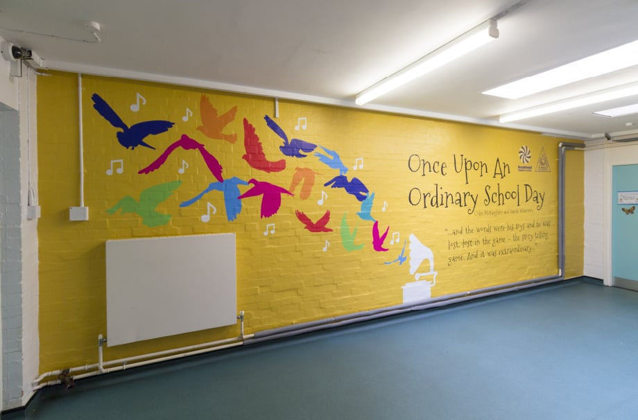 Broadmead Primary Schools custom designed story themed corridor Wall Art
