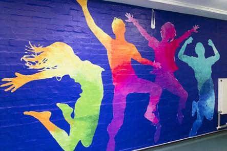 Broadmead Primary School key books themed wall art