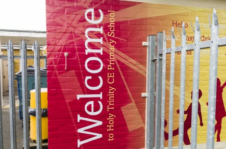 School bespoke branding and exterior walls wall art