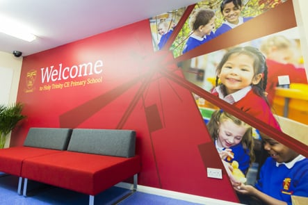 Holy Trinity CE Primary School bespoke welcome walls