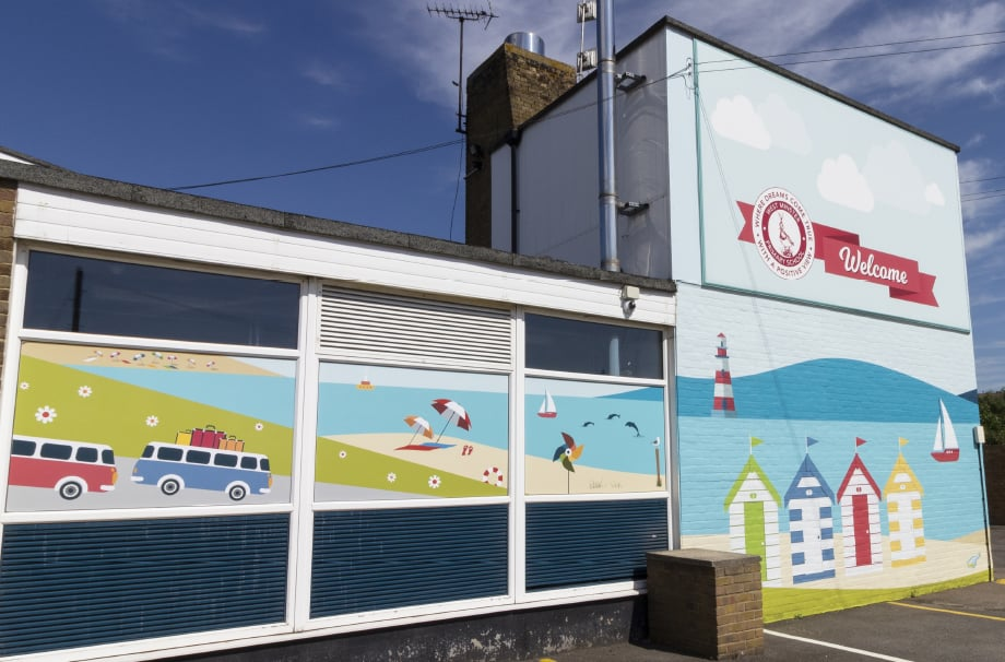 Primary Schools bespoke designed external welcome wall