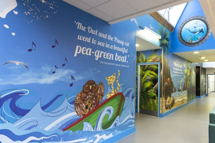 Berger Primary School Literature inspired library wall art