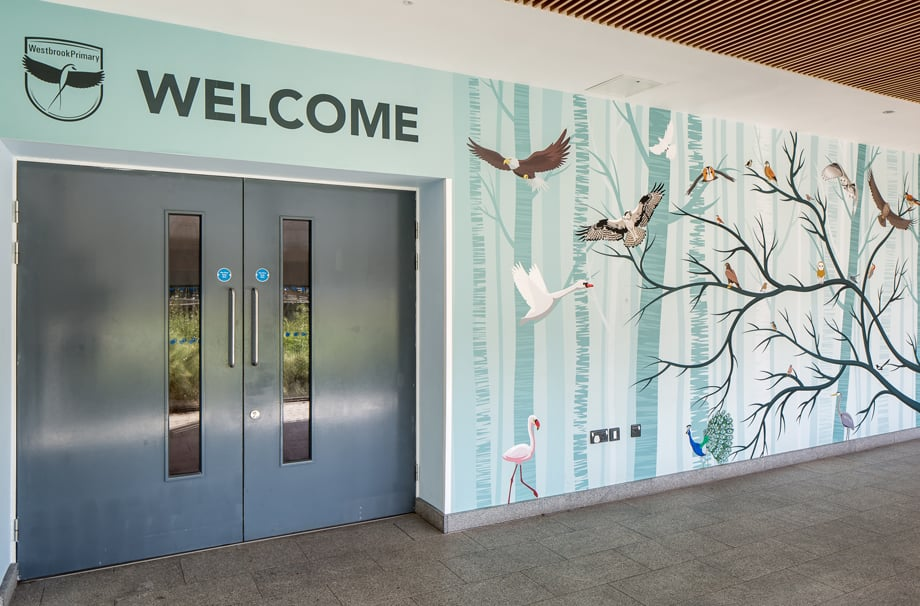 Westbrook Primary School class name welcome wall art