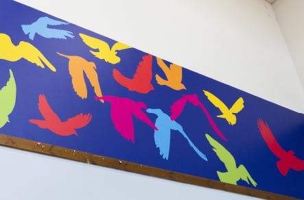 Primary School bespoke design and installation school feature wall art