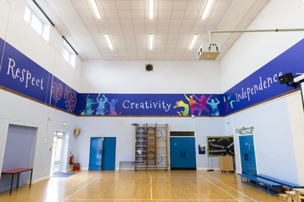 Northumberland Heath Primary School value walls hall wall art