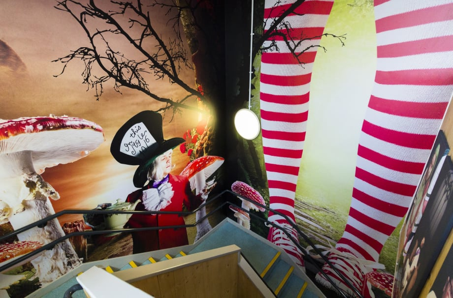 Northumberland Heath Alice in Wonderland themed stairway makeover
