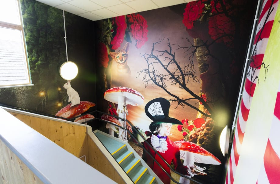 Northumberland primary schools bespoke themed stairway wall art