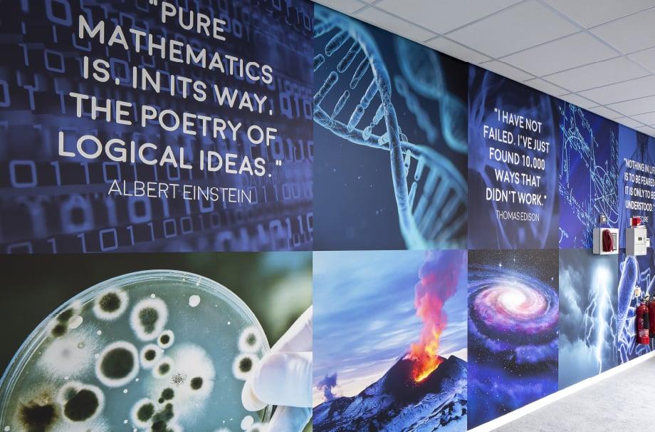 Brampton Academy bespoke Science walls large format Wall Art