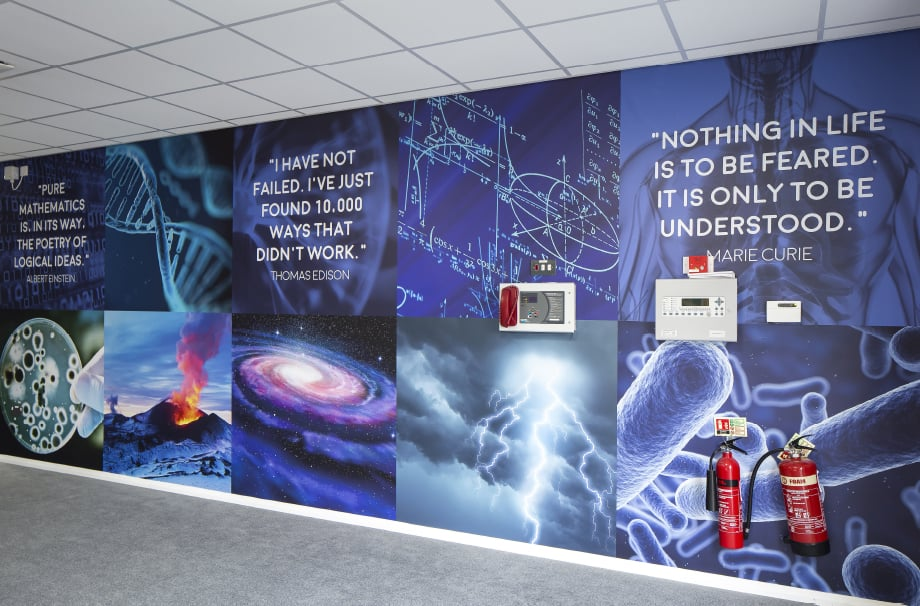 Brampton Sixth Form inspirational quotes science walls Wall Art