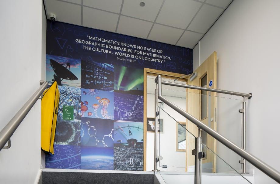 Brampton Sixth form motivational science walls throughway Wall Art