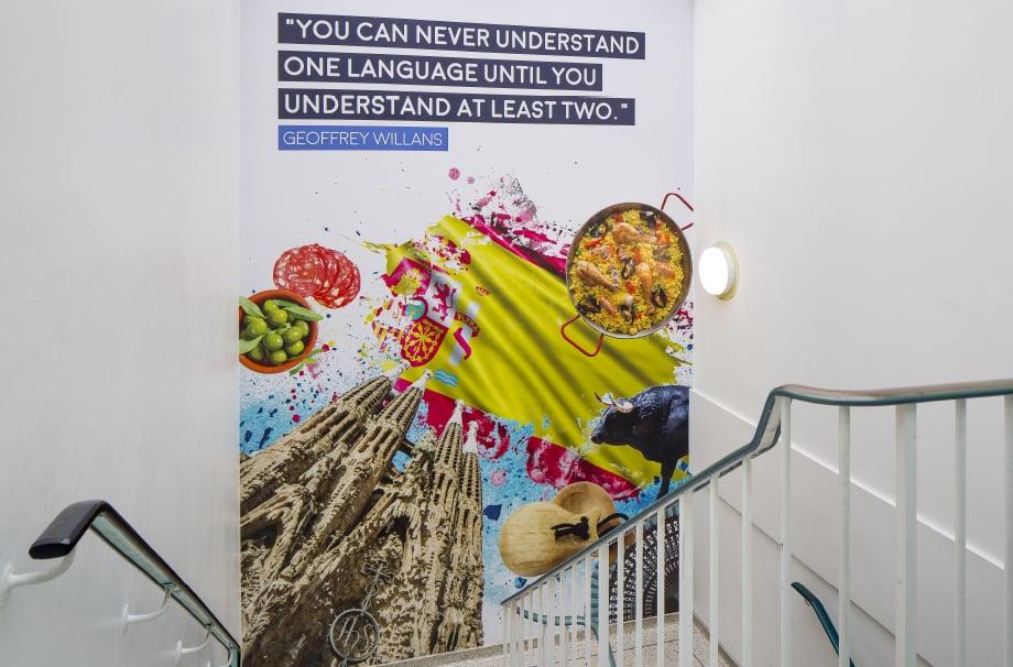 Brampton Manor bespoke stairwell subject zone Wall Art