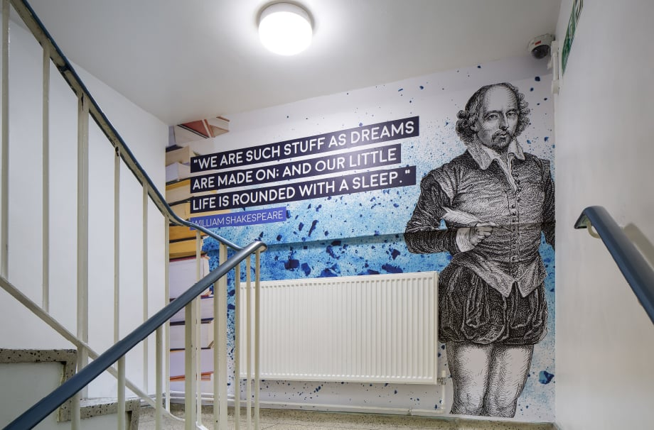 School inspirational literature themed bespoke motivating Wall Art