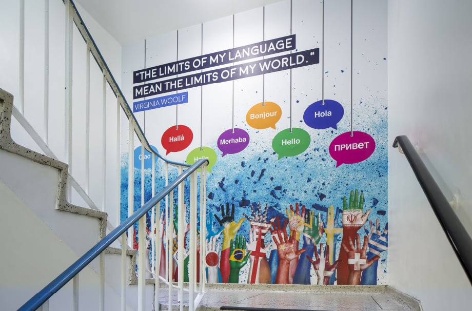 Brampton Manor Literature subject themed stairway Wall Art