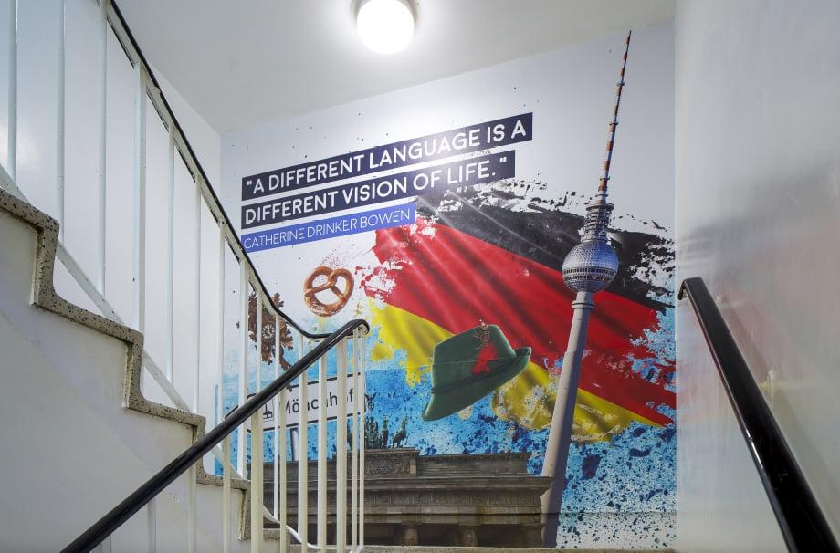 BRampton Manor Academy School subject zones with Wall Art