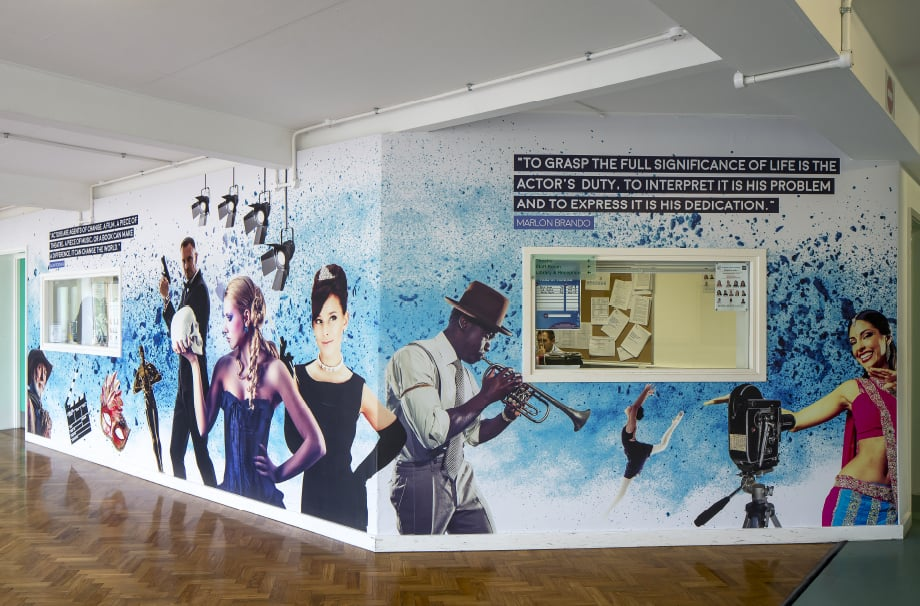 Brampton Manor Academy Bespoke music themed corridor wrap Wall Art
