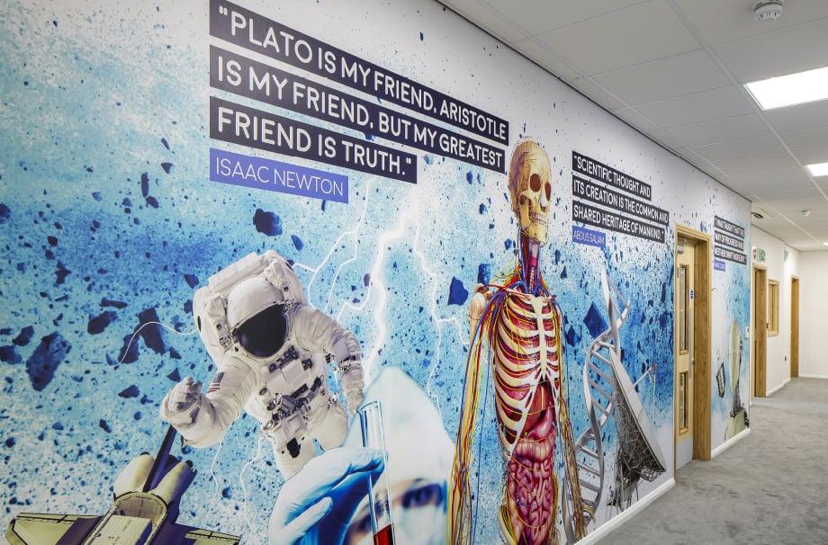Brampton Manor Academy School bespoke subject zoned Wall Art