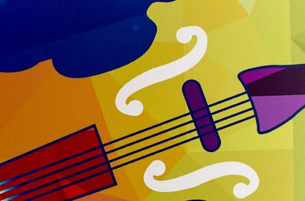 Ravenswood School music zone with themed corridor wrap wall art
