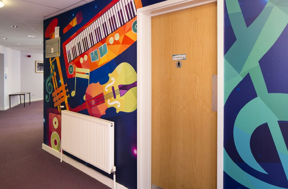 Ravenswood School music zone area wall art