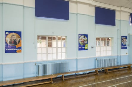 Southwood Primary School bespoke design key values storyboard wall art