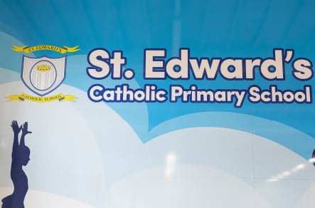 St Edwards School bespoke branding and signage wall art