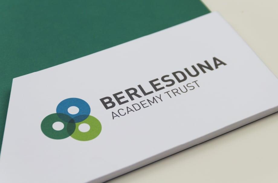 Berlesduna Academy bespoke Branding Folders prospectuses