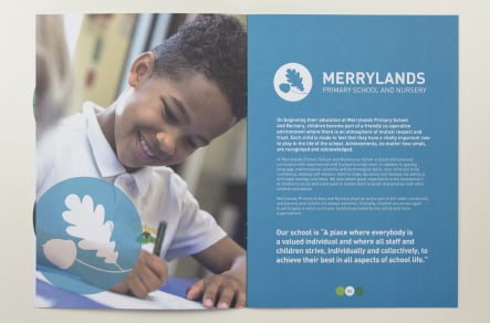 Primary and nursery school vibrant and bespoke branding prospectus