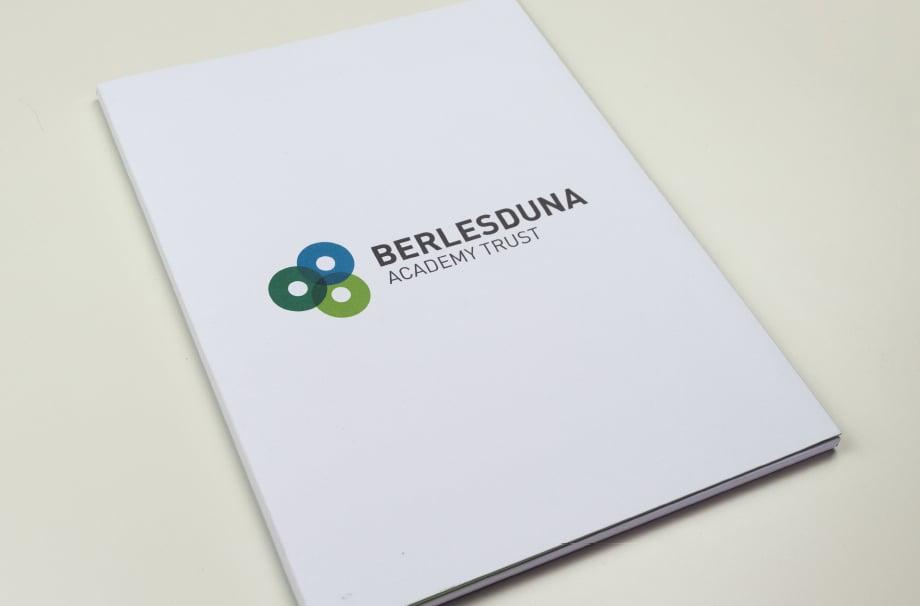 Bespoke branding for Berlesduna Academy trust folders