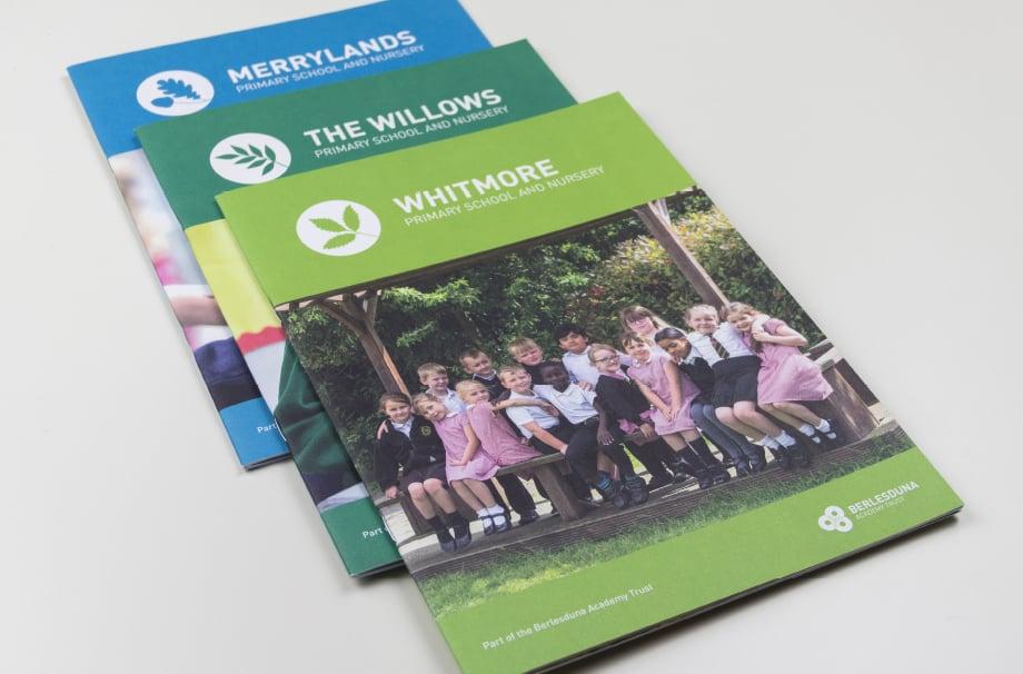 Berlesduna Academy Trust School bespoke Branding Folders prospectuses