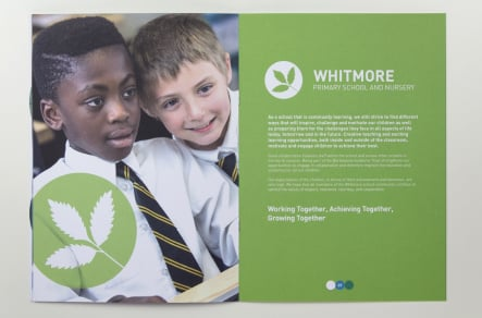 Bespoke branding for schools folders and prospectuses