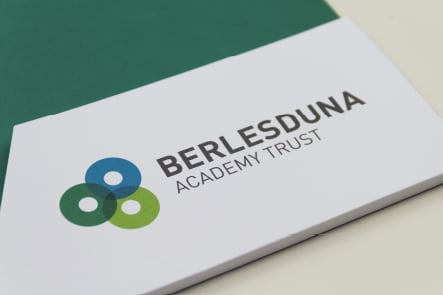 Berlesduna Academy Trust branding folder & prospectuses