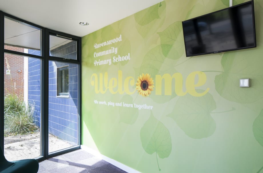 Ravenswood Primary School learning welcome wall art