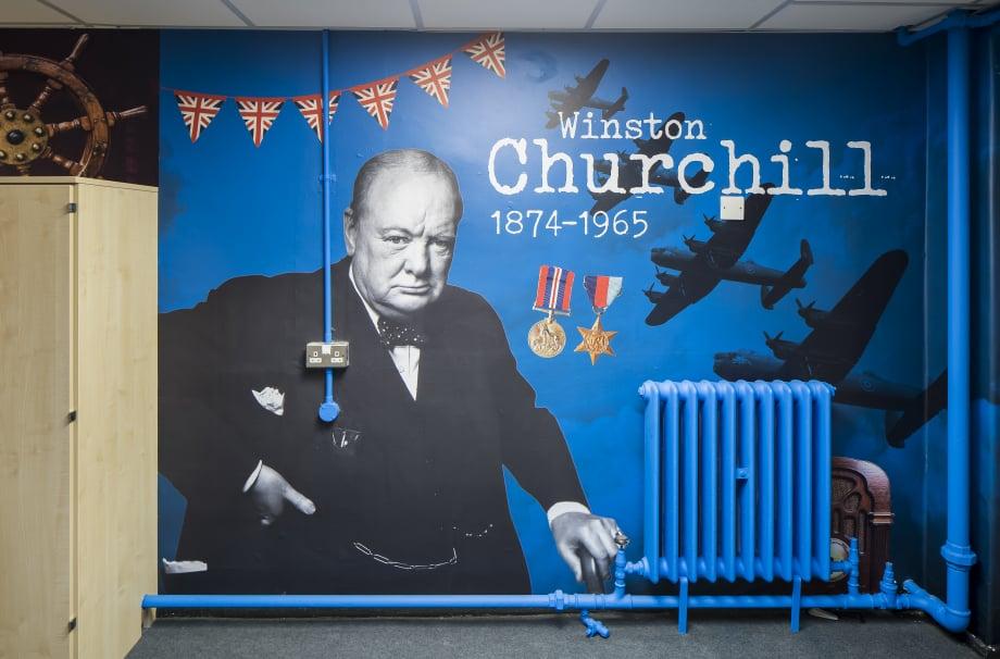 Greensted Junior School history Corridor wall art