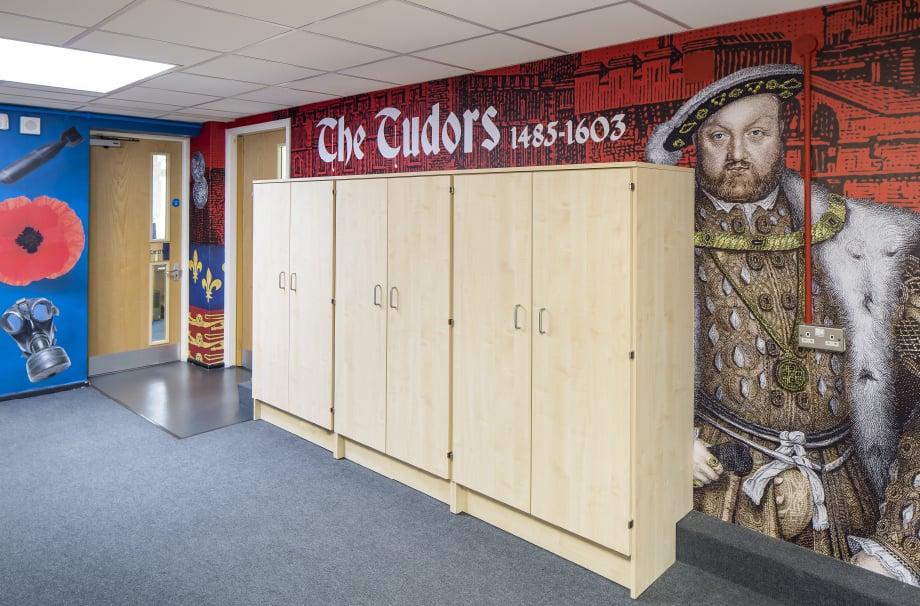 Greenstead School The tudors themed school corridor wall art