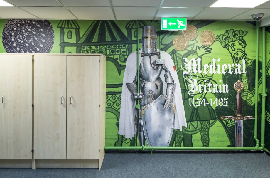 Greenstead School Medieval history themed corridor wall art