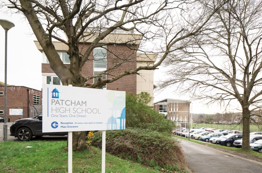 Patcham School external signage and branding