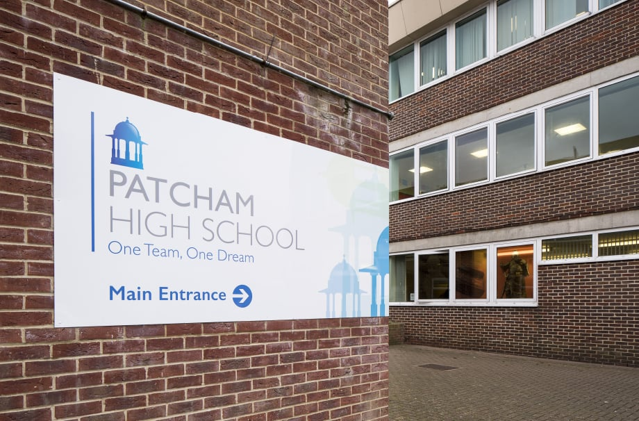 Patcham high School External boards wall art