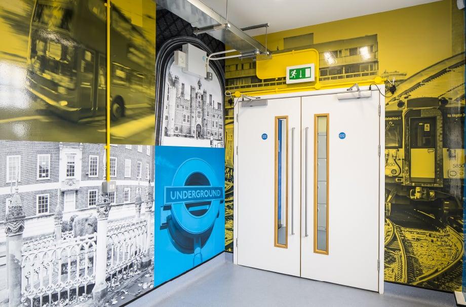 Bedlesford School Local landmark continuous corridor Wall Art