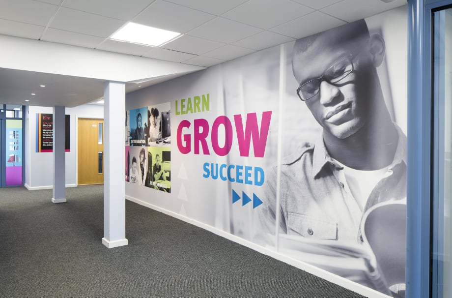 Stanmore College Inspirational large format wall art
