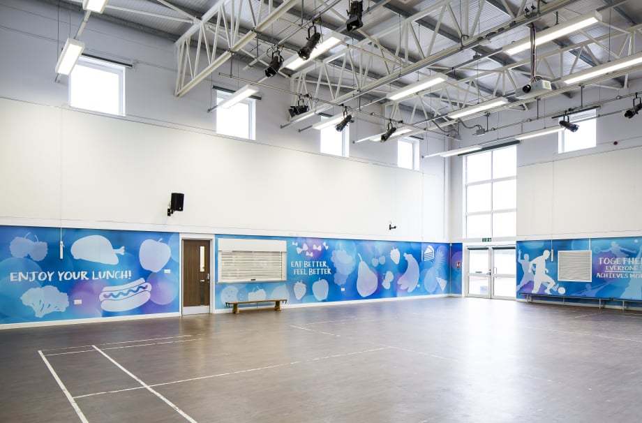 The Colleton sports hall motivational wall wrap wall art