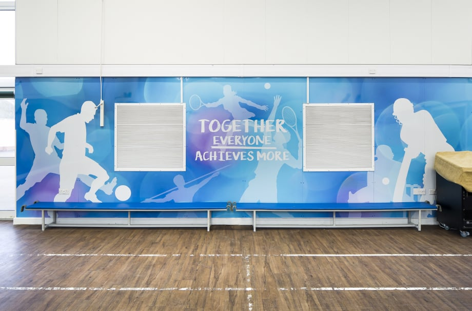 Schools motivational sports hall feature Wall Art