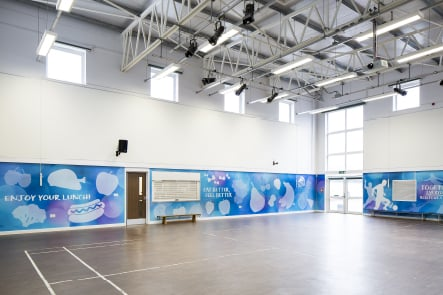 The Colleton motivational healthy eating sports hall wrap wall art