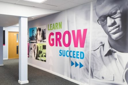 Stanmore College inspirational corridors and signage wall art