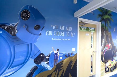 Primary school literacy theme wall art
